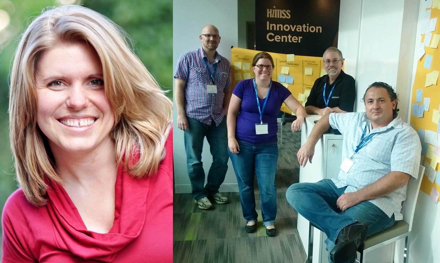 Tasha Markovich and hackathon team