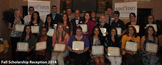Kent State University at East Liverpool Scholarship Group Photo 2014