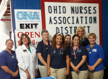 Student nurses volunteer at Canfield Fair 2014