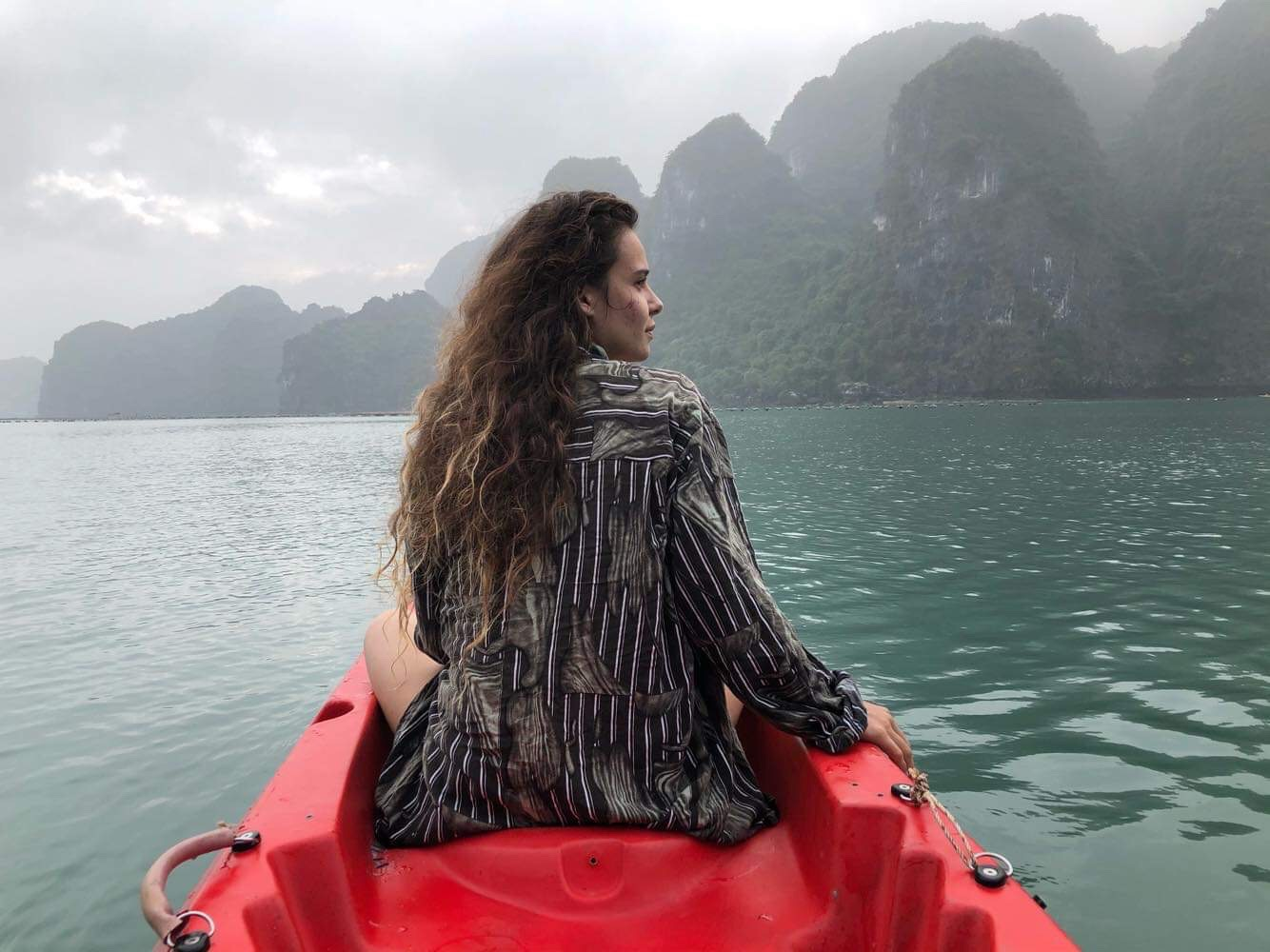 Duncan Kayaking in Hạ Long Bay, Vietnam