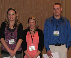 Three Kent State students from Columbiana County received scholarships at the recent Ohio Insurance Institute's Insurance Education Day in Columbus.