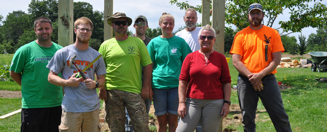 Horticulture Students Add Design Elements to the Discovery Garden