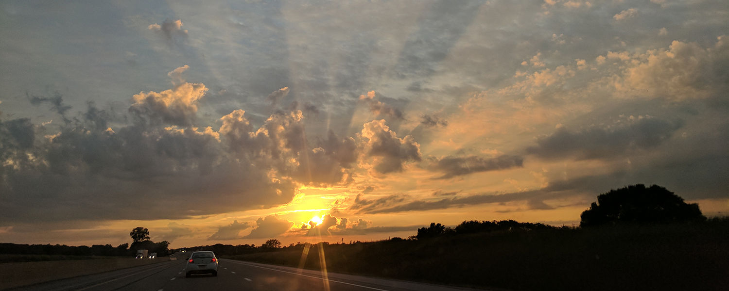 Josiah J. Murphy, secretary in Kent State's Department of Modern and Classical Language Studies, submitted this photo last year of her road tripping on Route 80.