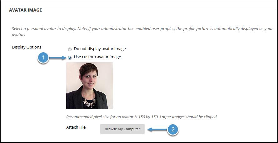 Upload avatar image