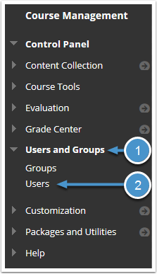 Users and Groups menu expanded