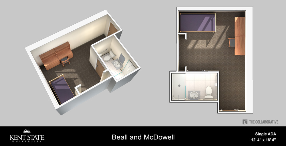 View the Beall and McDowell Single ADA room diagram in high resolution