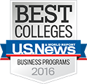 U.S. News & World Report best colleges of 2016 seal.