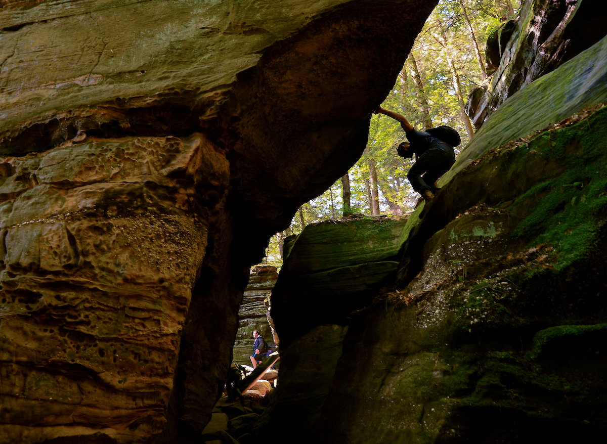 Hiker in Cuyahoga Valley National Park