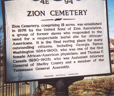 Sign of Zion Cemetery