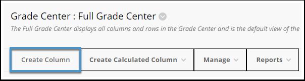 Create Column button
