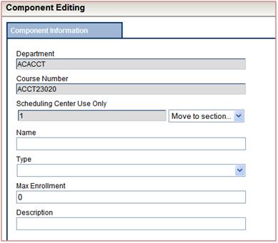 Component Editing