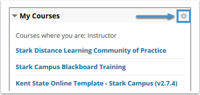 Course list gear icon