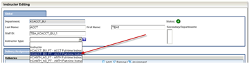 Select an Instructor Type from the dropdown list