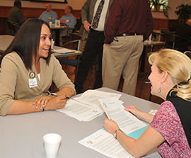 Vendors meet Kent State staff members at a Diversity Matchmaker Event in Moulton Hall