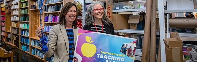 Distinguished Teaching Award goes to Janice Lessman-Moss