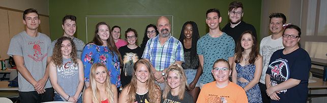 Dr. Kaplan with his students