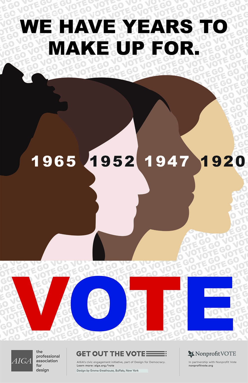 GOTV design by Emma Greathouse