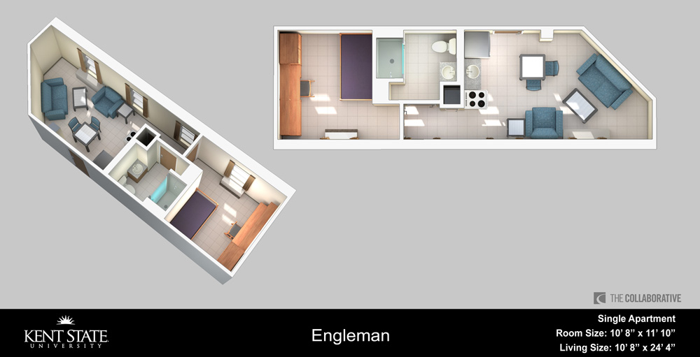 View the Engleman Single Apartment diagram in high resolution