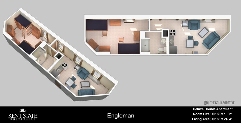 Diagram of Deluxe Double Apartment