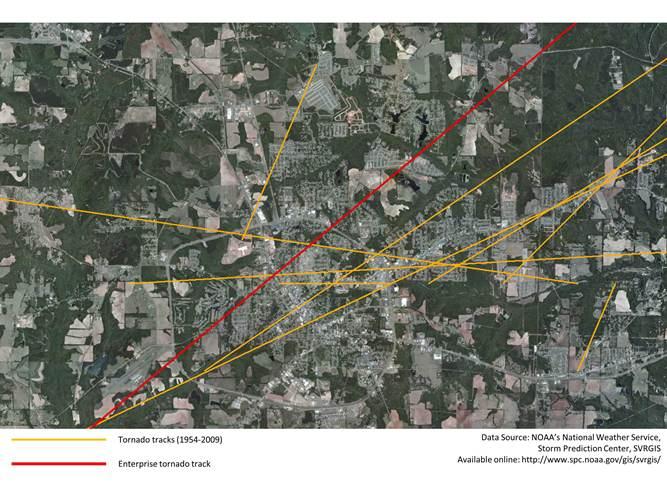 Enterprise, Alabama Tornado Impact