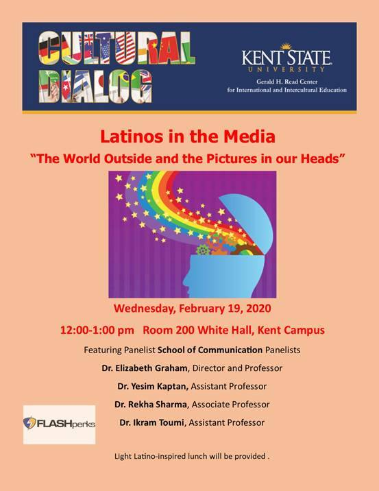 Poster of CIIE Latinos in the Media: A Cultural Dialog