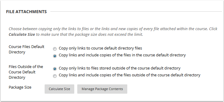 File copy and link options