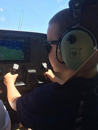 Matthew Dougard's dream of flying came true.