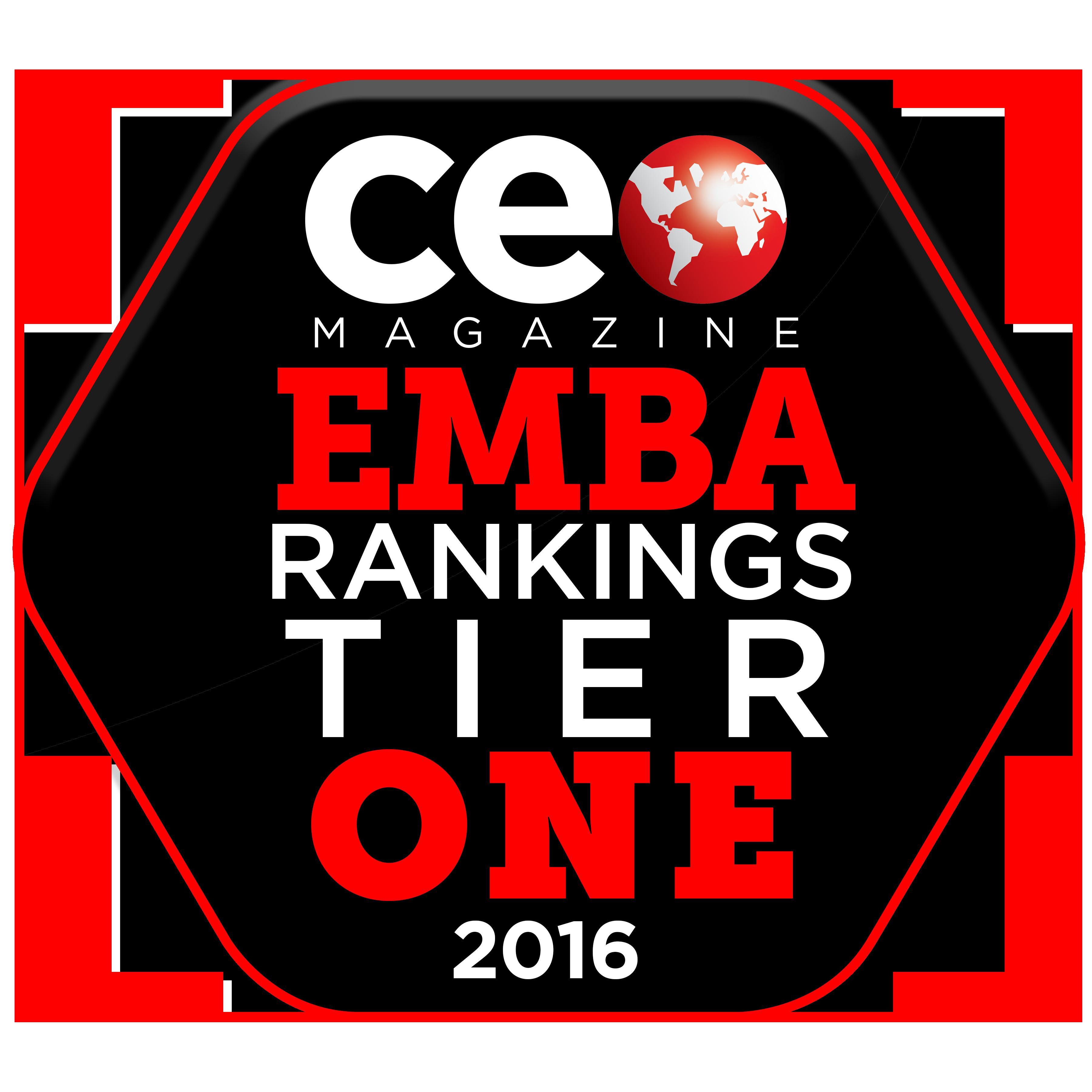 Image of CEO Magazine EMBA Rankings badge