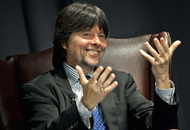 Filmmaker Ken Burns speaks at Kent State University on April 22 as part of the 2014 Symposium on Democracy and Presidential Speaker Series. (Photo credit: University of Texas at Arlington)