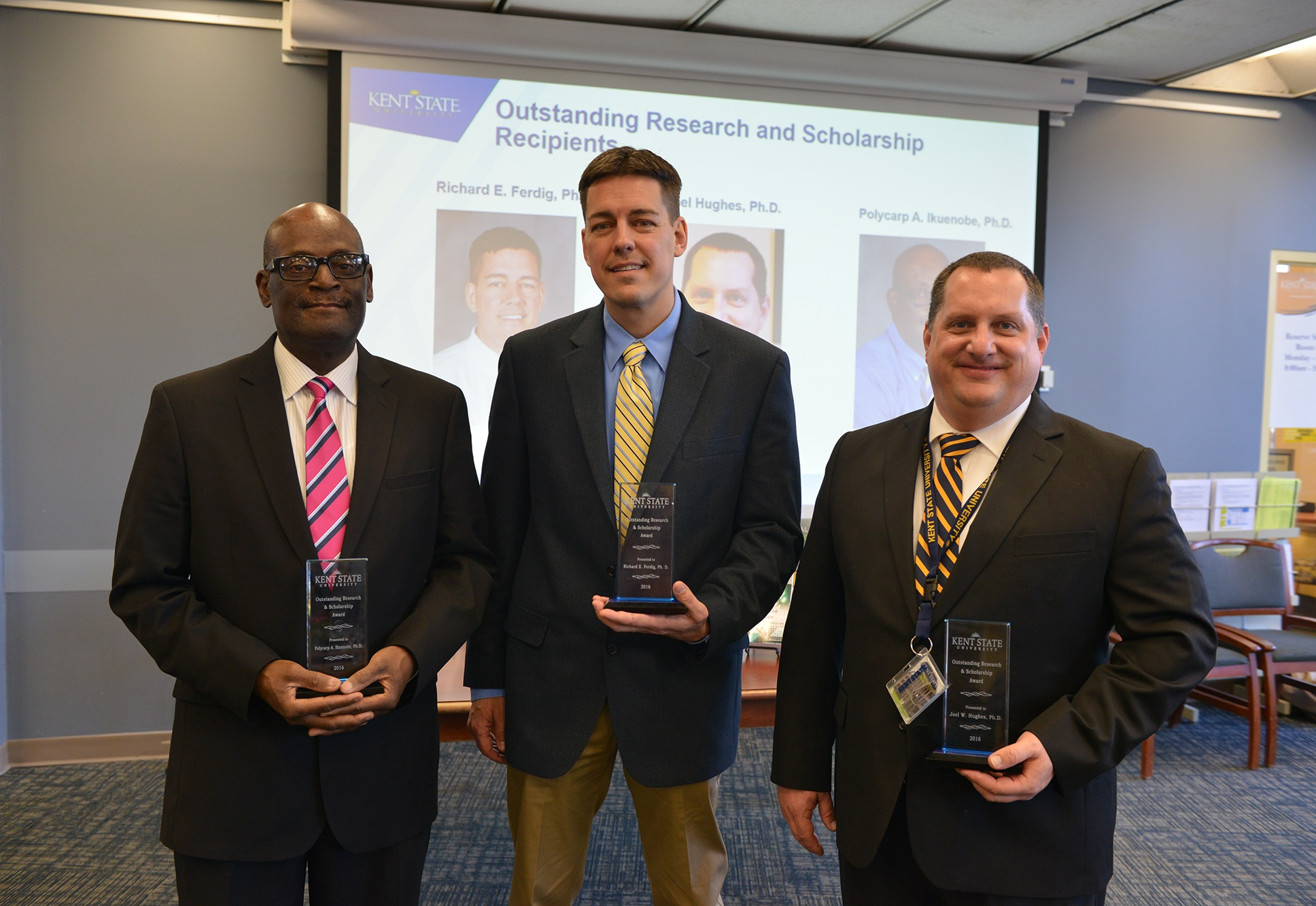 Photo of 2016 Outstanding Research and Scholarship Award Recipients