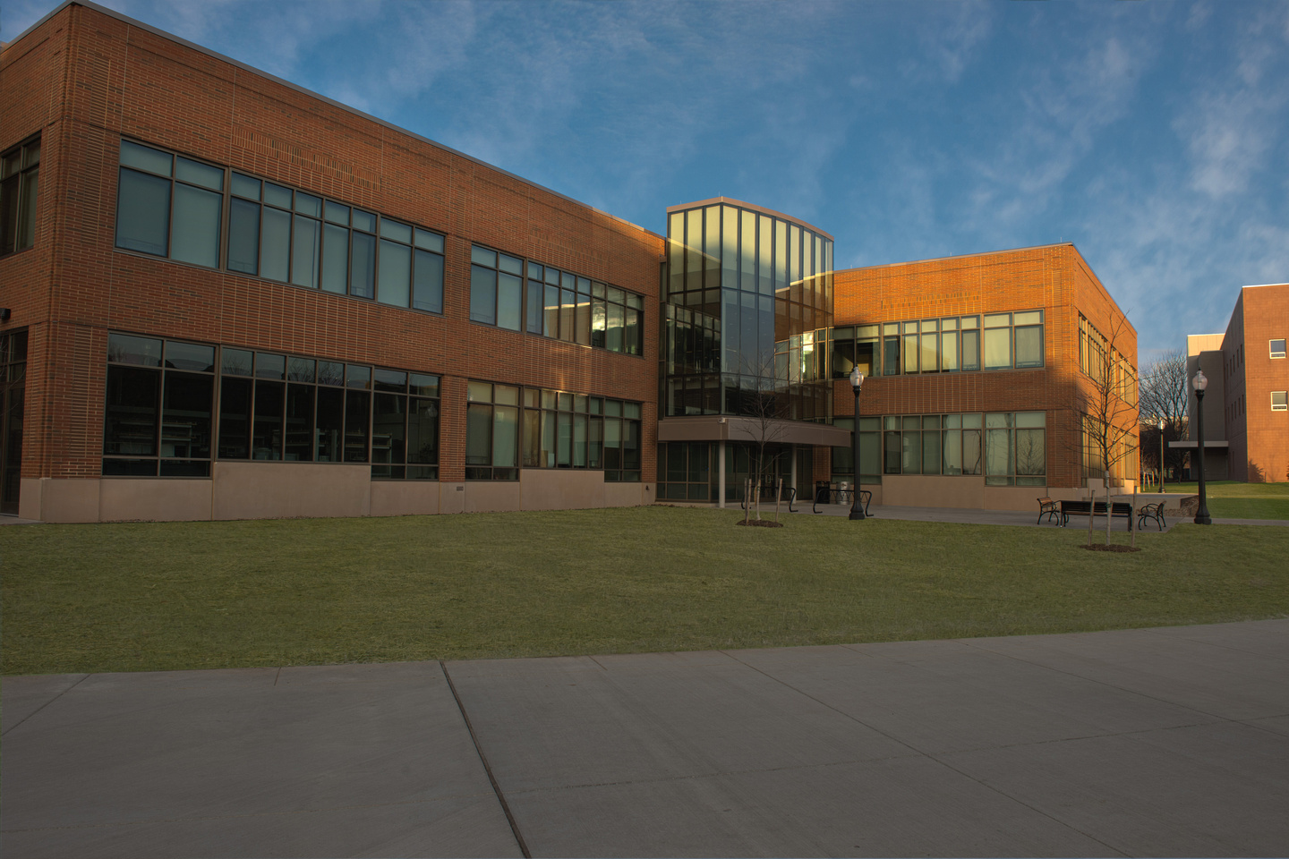Photo of Kent State's new Aeronautics and Technology Building