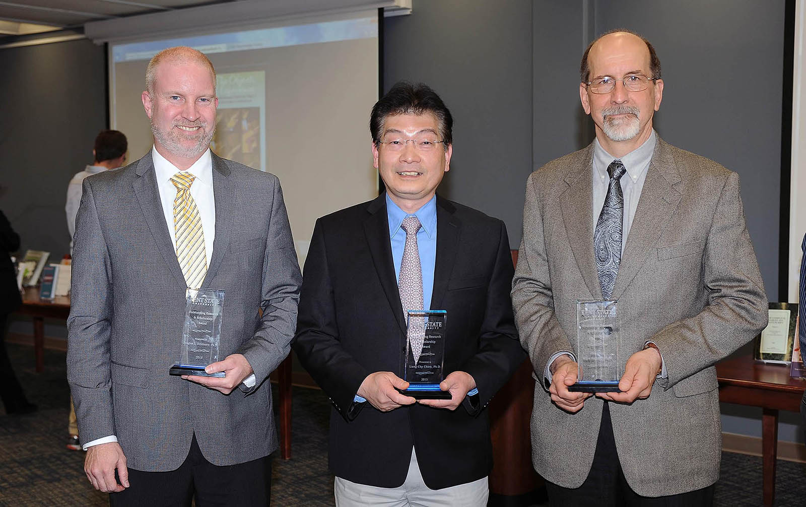 Photo of Recipients of 2015 Outstanding Research and Scholarship Awards