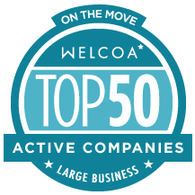 Logo from Top 50 Active Companies from On the Move competition
