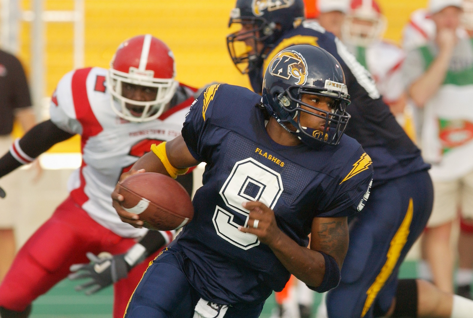 Photo of Josh Cribbs, quarterback of the Kent State Golden Flashes
