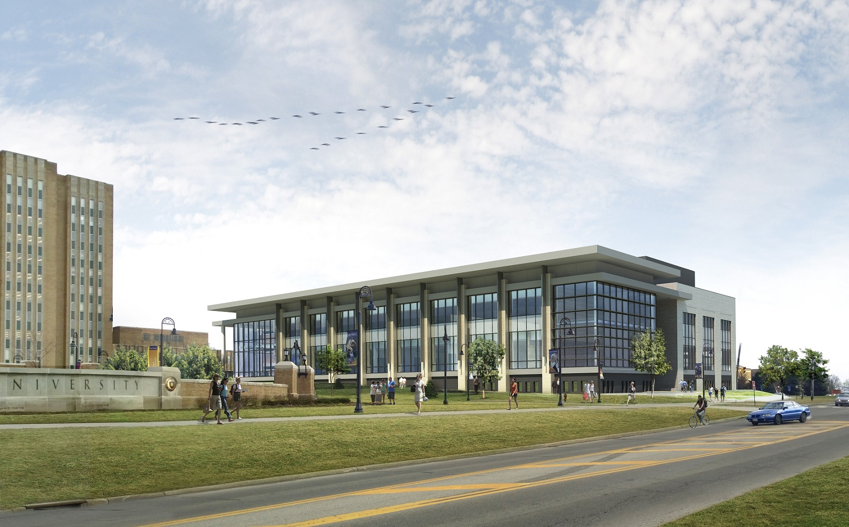 Rendering 1 of Integrated Sciences Building - South View