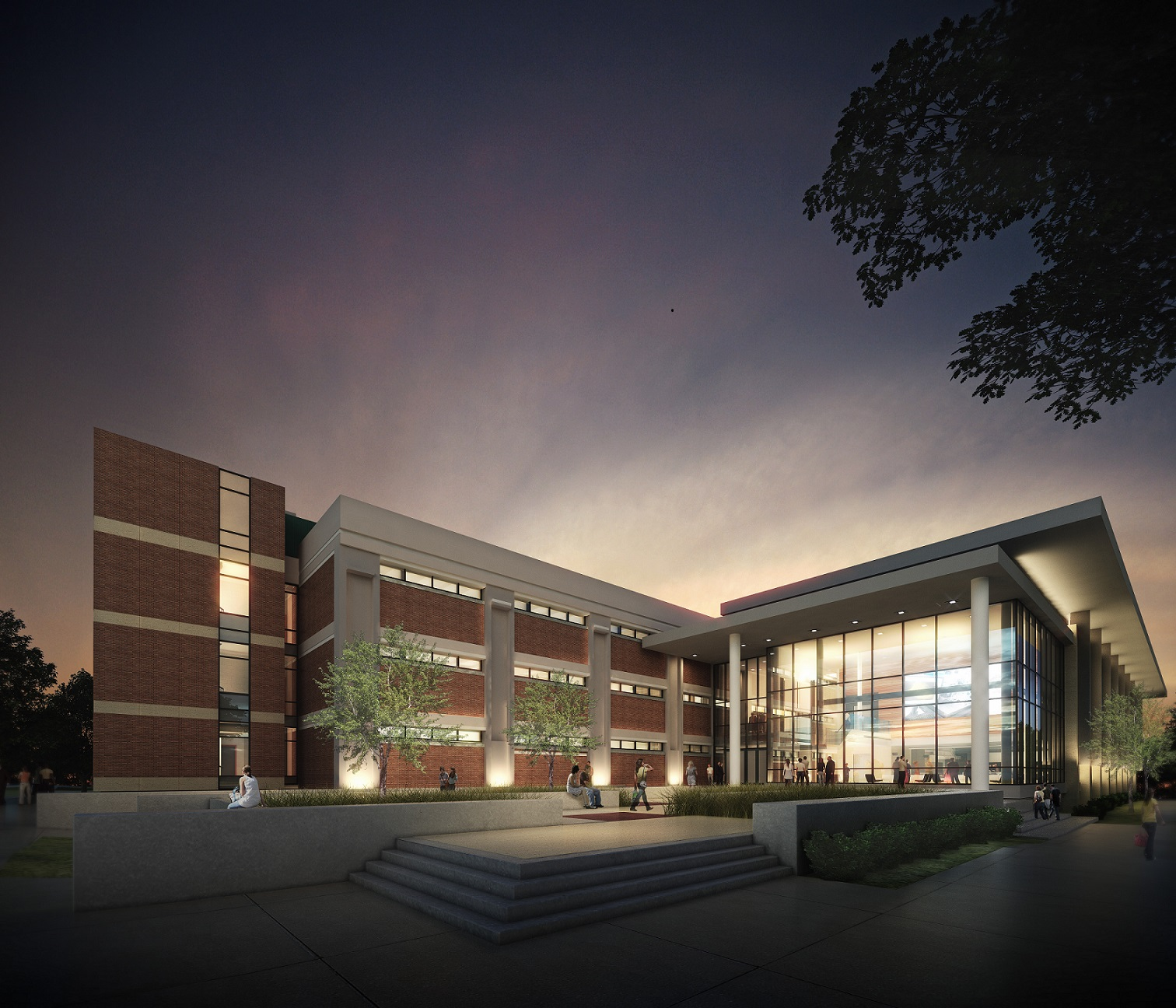 Rendering 2 of Integrated Sciences Building - North Entrance