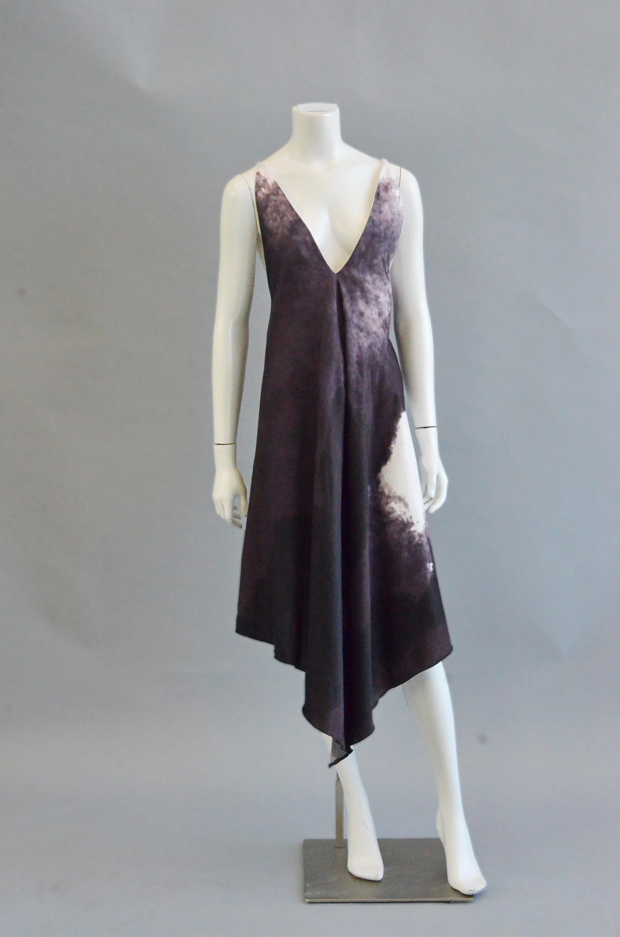 """Karissa Newman's garment, """"Orchard Gardens - Slip Dress""""."""