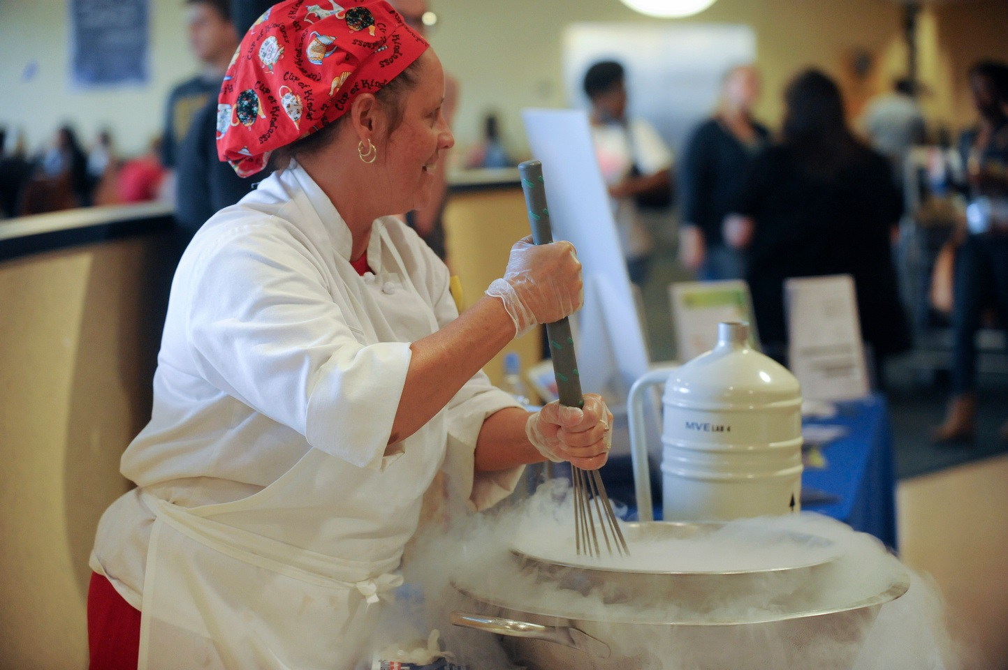 Photo 2 from Dining Services - making ice cream