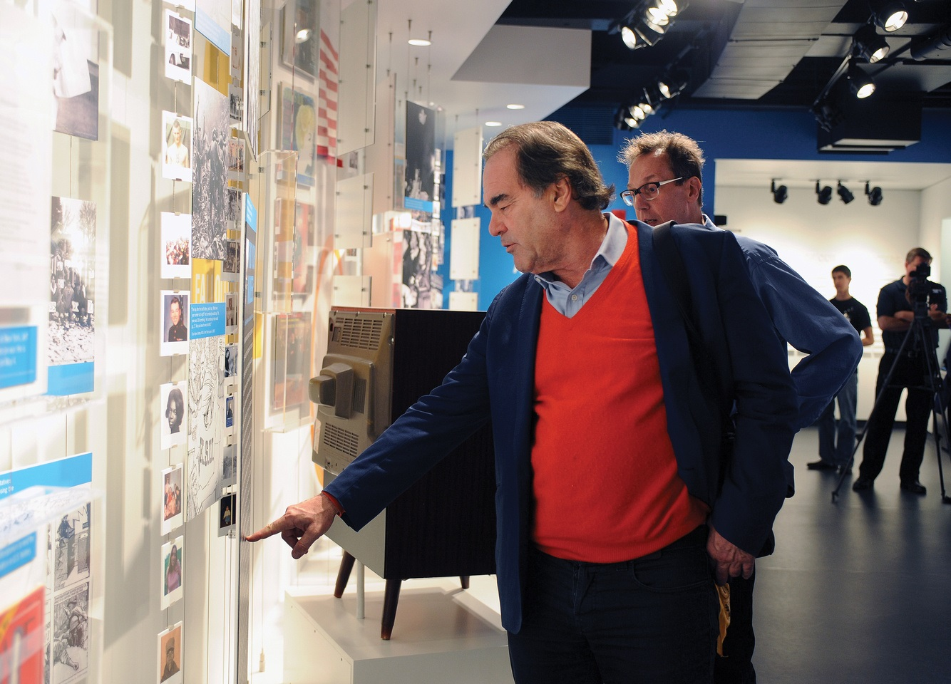 Photo of film director Oliver Stone at the May 4 Visitors Center
