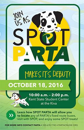 Spot PARTA flyer
