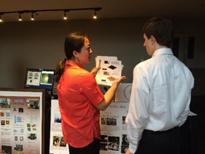Lu Zou, a LCICF staff, was explaining how AFM works to a high school student