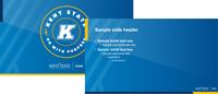 Stark PPTX template 16x9 blue