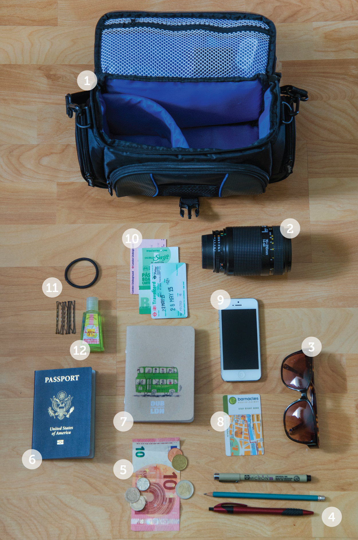 Kara Wellman '16 shares what she carried on her study abroad trip