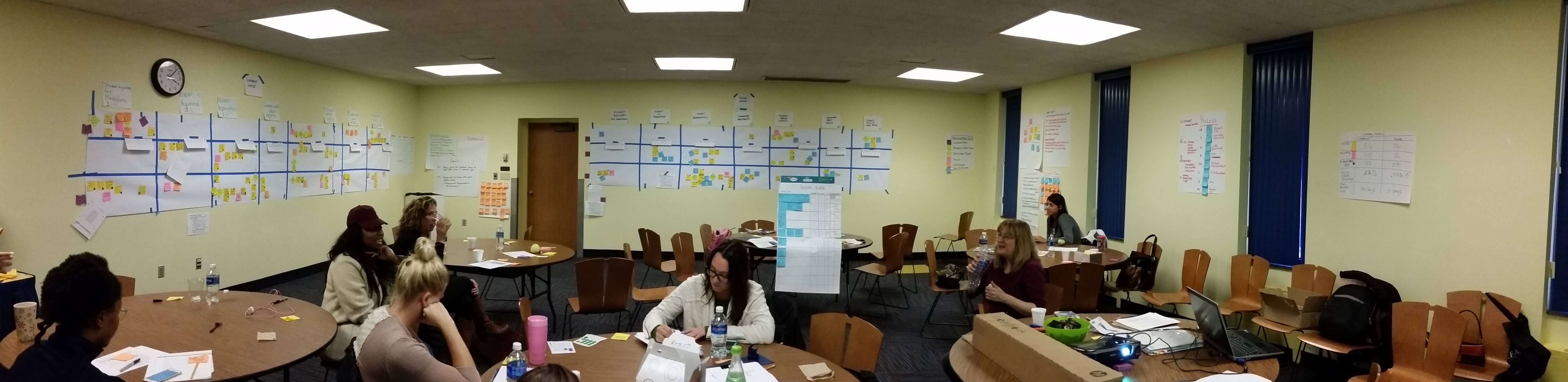 Process mapping during a process improvement event.