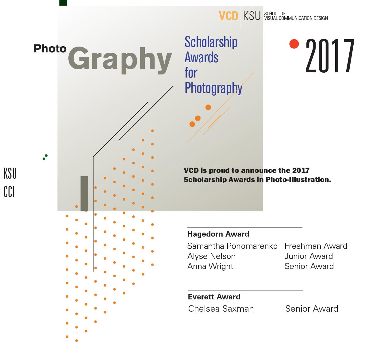 2017 Photography Scholarship Awards