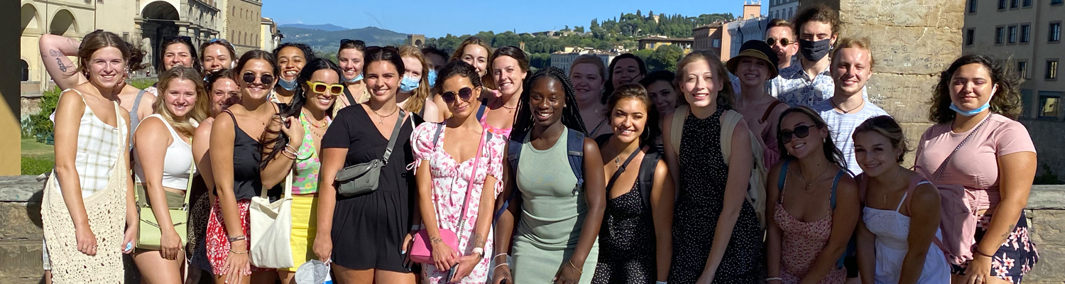 Image of Kent State Study Abroad Students in Florence Italy