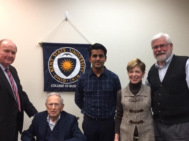 Robert Hisrich, Dr. Heinlein, Laxman Panthi, Karen Fuller and Doug Fuller