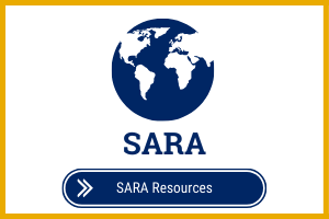 State Authorization Sara Resources Text with World Icon