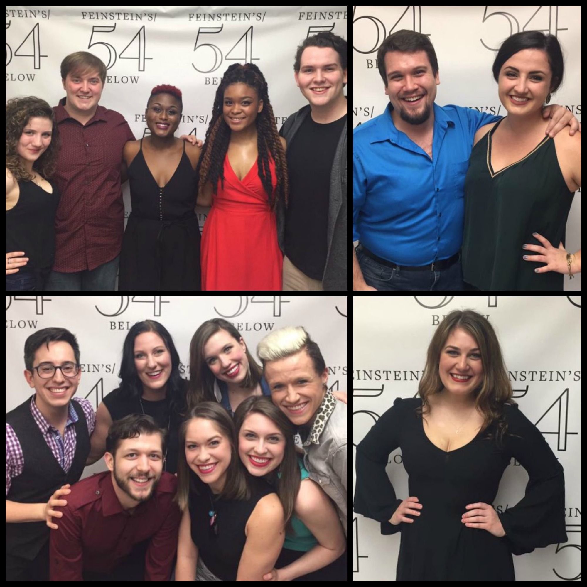 Alumni from the classes of 2015, 2014, and 2013 performed at 54 Below