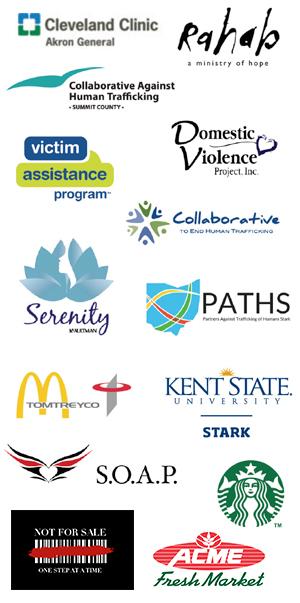Anti-human trafficking symposium sponsor logos